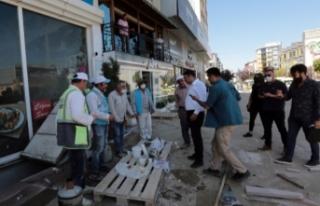 Sıhke Caddesi'nde yenileme çalışmaları sürüyor