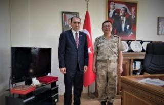 Tuğgeneral Yiğit'ten Van ESOB Başkanı Berge'ye...