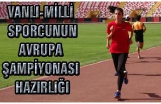 Vanlı-Milli Sporcu Nevin İnce, Avrupa Şampiyonası'na...