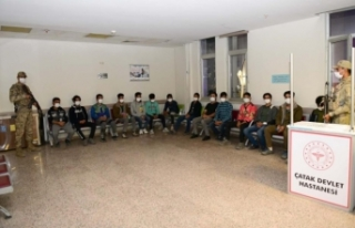 Çatak'ta 31 düzensiz göçmen yakalandı