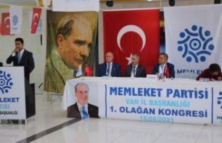 Terzioğlu, yeniden Memleket Partisi'nin il başkanı…