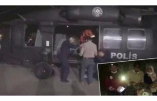 Van'da parmağı kopan bebek için polis helikopteri...