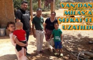 Van Polisi'nden, Milas'taki aileye yardım...