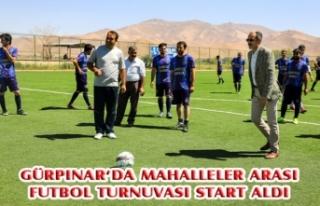 Gürpınar'da mahalleler arası futbol turnuvası...