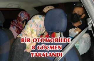 İpekyolu'nda bir otomobilde 8 göçmen yakalandı