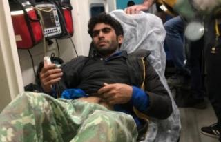 Mahsur kalan düzensiz göçmen kurtarıldı
