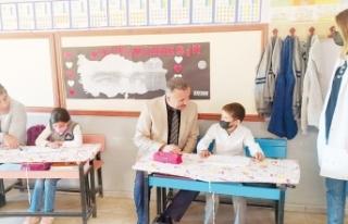 Müdür Şipal'den köy okullarına ziyaret