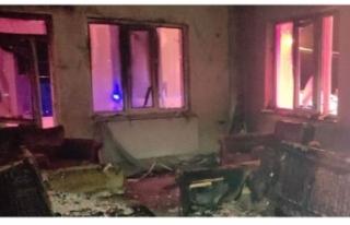 Edremit'te yangın: Anne ve çocuklarını itfaiye...