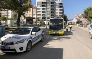 Van'da minibüs sürücüleri bilgilendirildi
