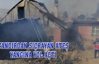 İpekyolu'nda bir evde yangın çıktı