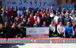 Van'daki amatör spor kulüplerine 1 milyon TL...