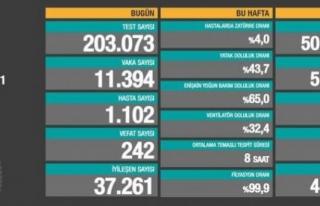 14 Mayıs verileri: 11 bin 394 vaka, 242 ölüm...
