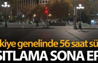 Türkiye genelinde 56 saat süren sokağa çıkma...