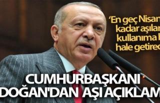 Cumhurbaşkanı Erdoğan'dan aşı açıklaması!...