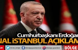 Cumhurbaşkanı Erdoğan'dan Kanal İstanbul...