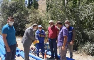 Bahçesaray'ın kırsal mahallesindeki su sorunu çözüldü
