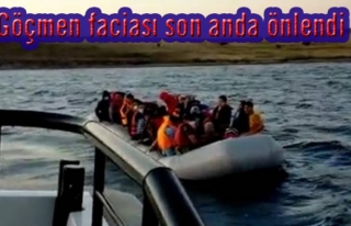 Türk kara sularına geri itilen 44 sığınmacı...