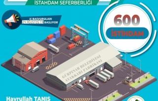 Gürpınar'da 600 kişilik istihdam imkanı...