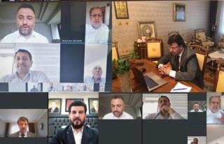 Van'da Ak Parti videokonferans ile bayramlaştı