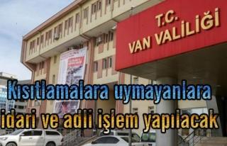 Van'da yeni yasaklar uygulamaya geçti