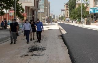 Başkan Vekili Aslan, Koçibey Caddesi'ndeki çalışmaları...