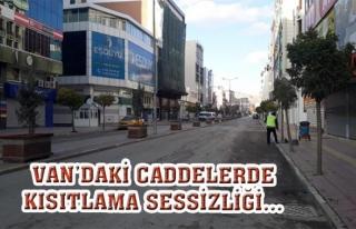 Van'da cadde ve sokaklarda sessizlik hakim…