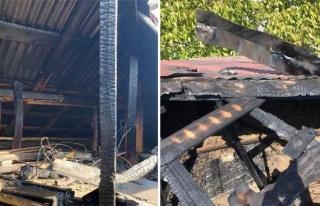 İpekyolu'nda bir evin çatısında yangın çıktı