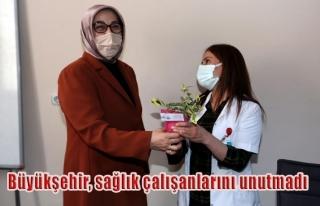 Van'daki sağlık çalışanlarına çiçek fidesi...