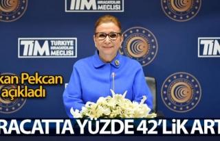 Bakan Pekcan: İhracat yüzde 42,2 arttı