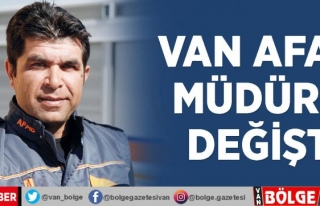 Van AFAD Müdürü değişti