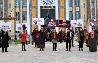Kadına Şiddete Hayır temalı afiş yarışması...