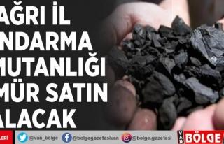 Ağrı İl Jandarma Komutanlığı kömür satın...