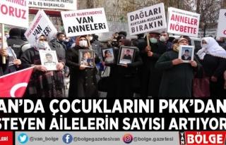 Van'da çocuklarını PKK'dan isteyen ailelerin...