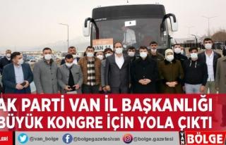 AK Parti Van İl Başkanlığı büyük kongre için...