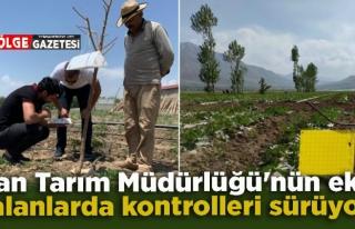 Van Tarım Müdürlüğü'nün ekili alanlarda kontrolleri...