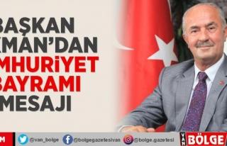 Başkan Akman'dan Cumhuriyet Bayramı mesajı
