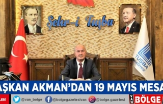 Başkan Akman'dan 19 Mayıs mesajı