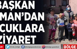 Başkan Akman'dan çocuklara ziyaret