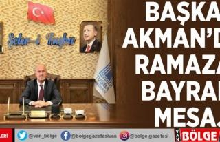 Başkan Akman'dan Ramazan Bayramı mesajı