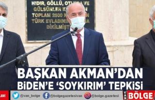 Başkan Akman'dan Biden'e 'Soykırım'...
