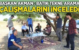 Başkan Akman, Göçmenler için yürütülen arama...
