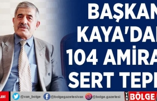 Başkan Kaya'dan, 104 amirale sert tepki…