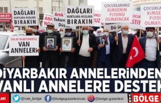 Diyarbakır annelerinden Vanlı annelere destek