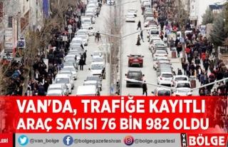 Van'da, trafiğe kayıtlı araç sayısı 76...