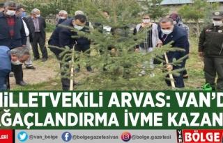 Milletvekili Arvas: Van'da ağaçlandırma ivme...