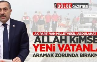 Milletvekili Arvas, göçmen dramına dikkat çekti