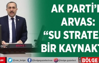 AK Parti'li Arvas: 'Su stratejik bir kaynaktır'