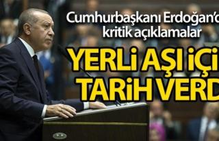 Erdoğan: Kendi aşımızı Nisan'da uygulayabiliriz