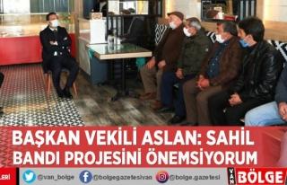 Başkan Vekili Aslan: Sahil bandı projesini önemsiyorum