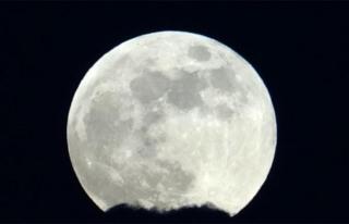 Ay tutulması göz kamaştırdı...